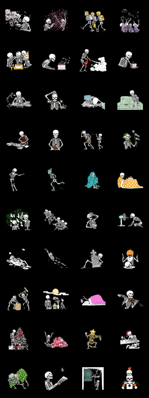 骨のスタンプ7