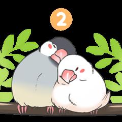 文鳥のスタンプ2